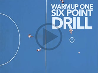 Warm up drills for the start of training or a game.