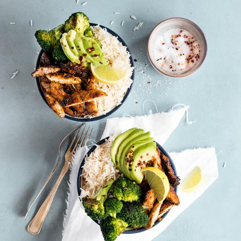BBQ HONEY CHICKEN RICE BOWLS
